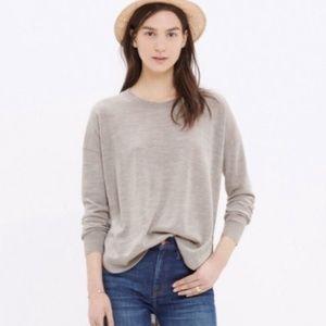 Madewell Northstar merino wool Dune sweater L NWT